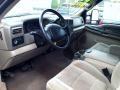 2001 Ford F250 Super Duty Medium Parchment Interior Prime Interior Photo