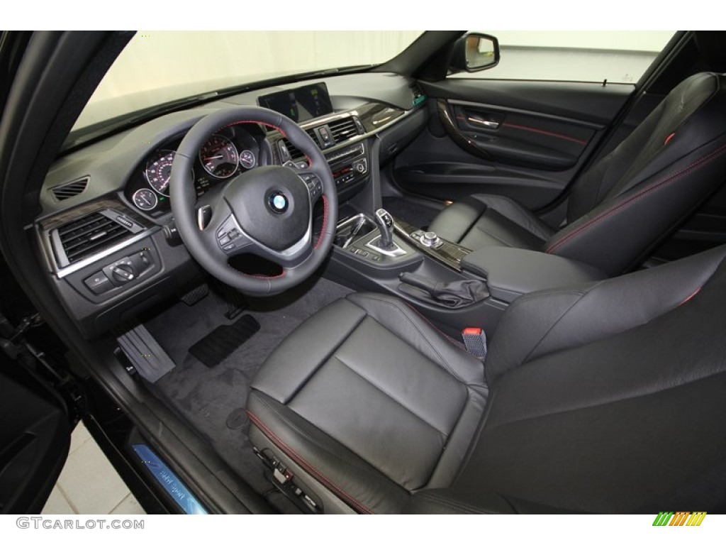 black interior 2013 bmw 3 series 328i sedan photo