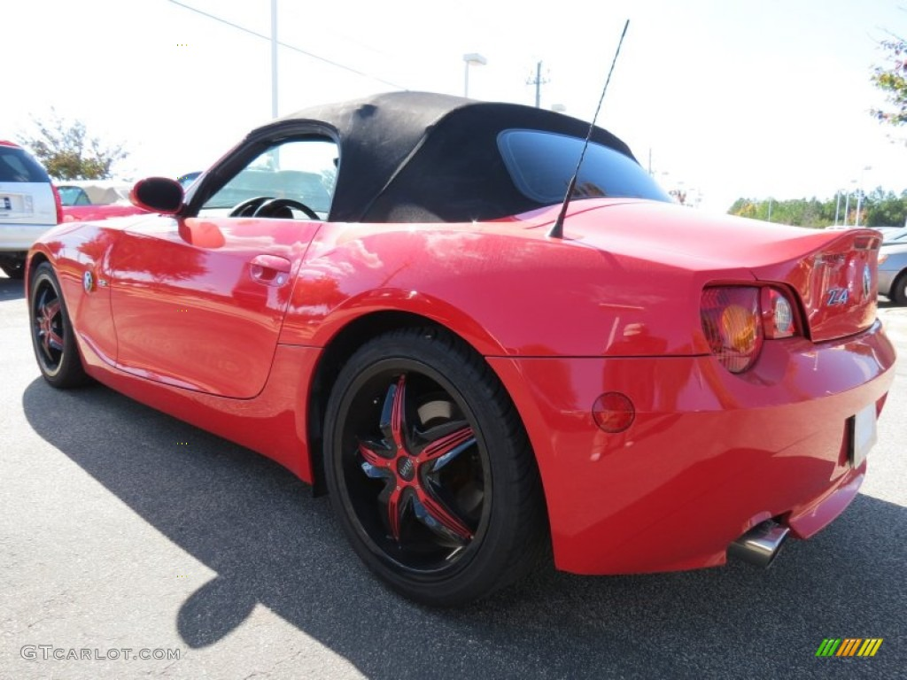 Bright Red 2003 Bmw Z4 2 5i Roadster Exterior Photo