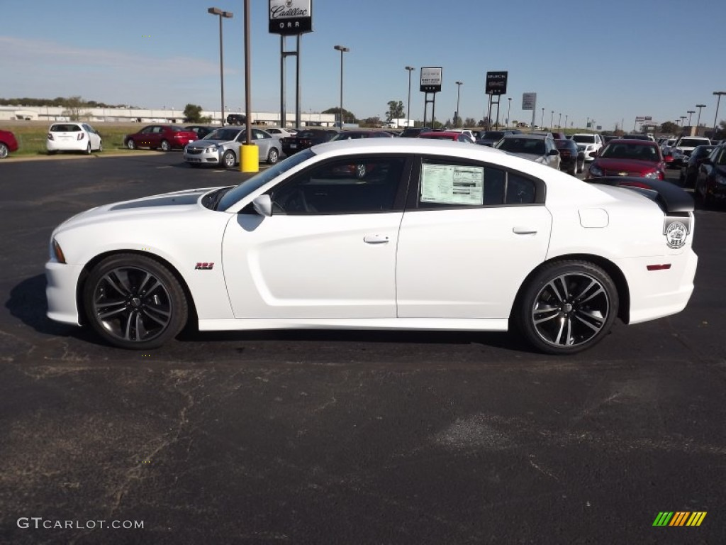 2013 charger srt8 super bee bright white blacksuper bee stripes