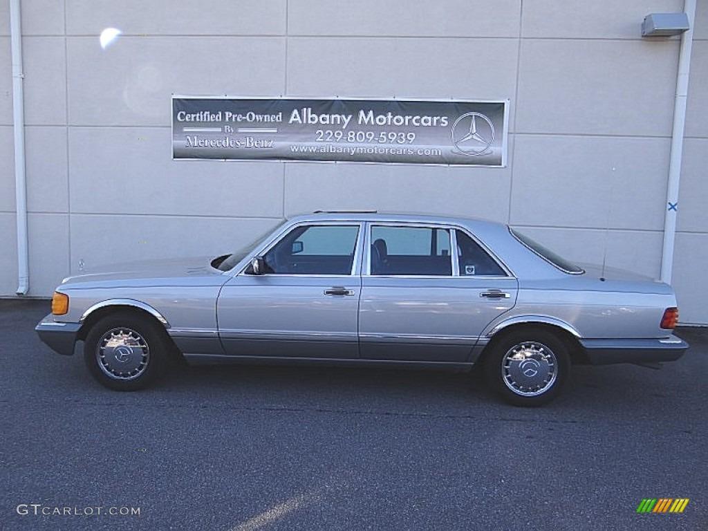 1987 astro silver metallic mercedes benz s class 420 sel for Mercedes benz s class colours