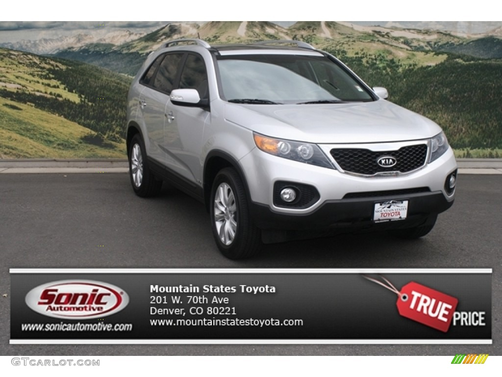 2011 Sorento EX V6 AWD - Bright Silver / Black photo #1