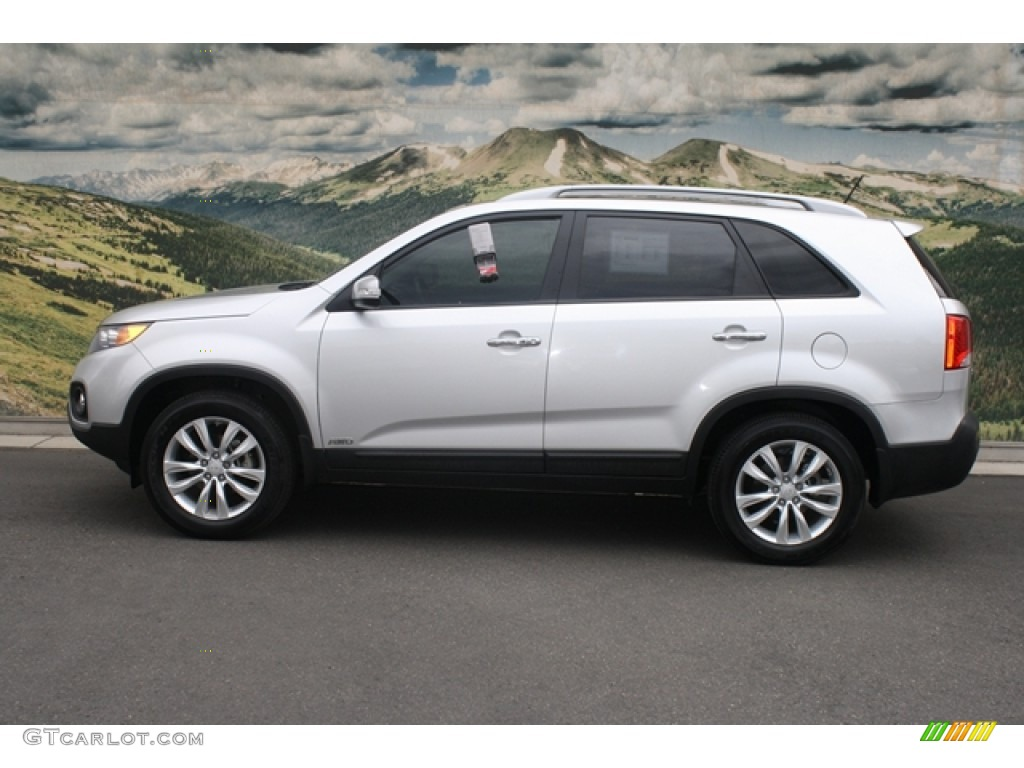2011 Sorento EX V6 AWD - Bright Silver / Black photo #6