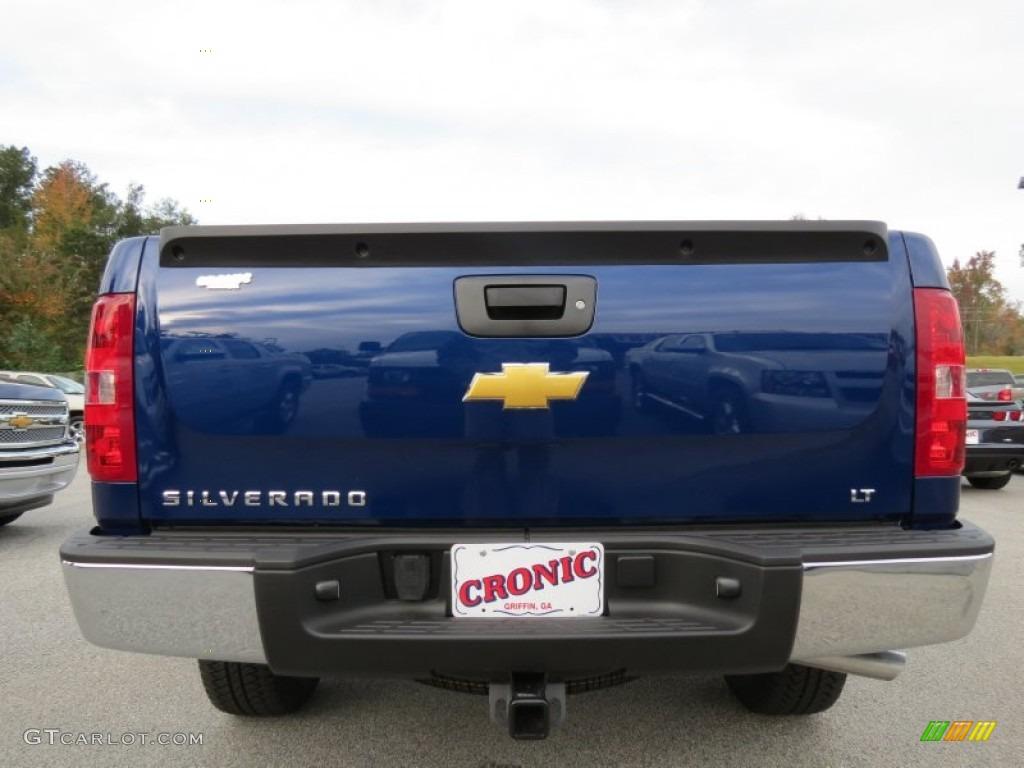 2013 Silverado 1500 LT Crew Cab 4x4 - Blue Topaz Metallic / Ebony photo #5