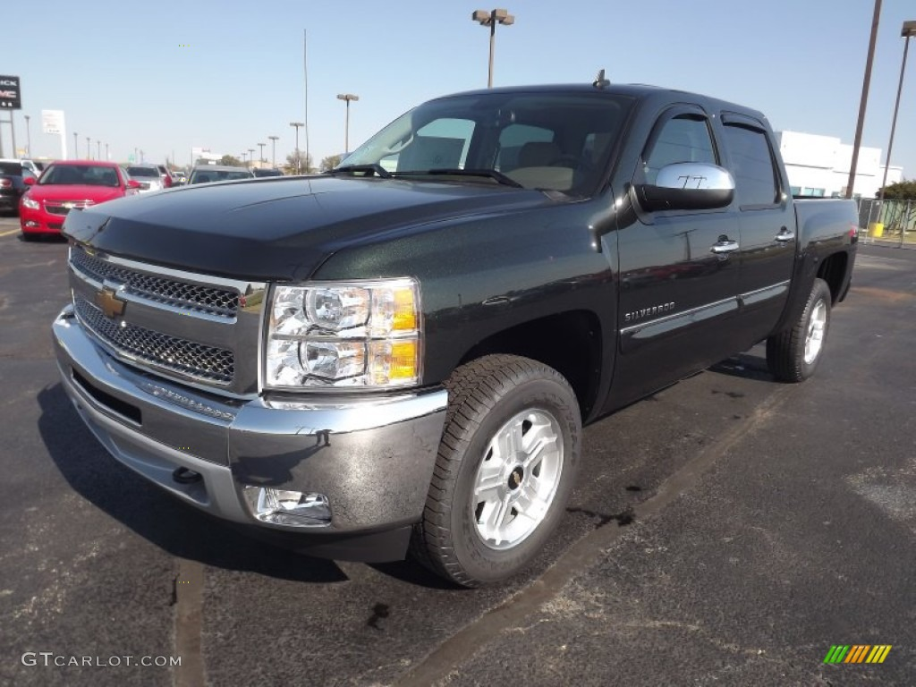 2013 Silverado 1500 LT Crew Cab 4x4 - Fairway Metallic / Light Cashmere/Dark Cashmere photo #1