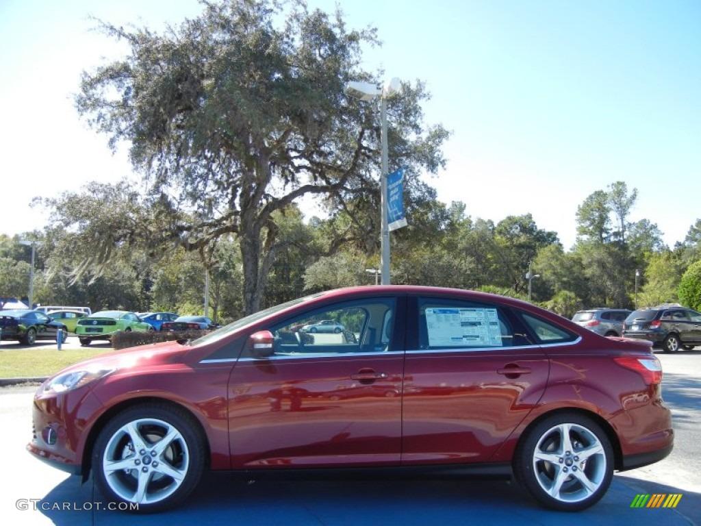 ruby red 2013 ford focus titanium sedan exterior photo 72927004 - Ford Focus 2014 Sedan Red