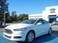 2013 Oxford White Ford Fusion SE  photo #1