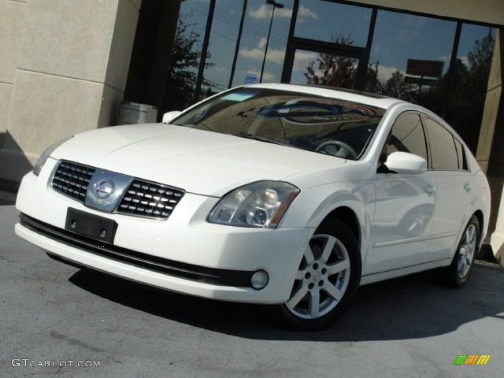 2005 winter frost pearl nissan maxima 3 5 sl 72902613. Black Bedroom Furniture Sets. Home Design Ideas