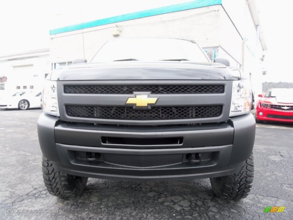 2013 Silverado 1500 Work Truck Regular Cab 4x4 - Black / Dark Titanium photo #6