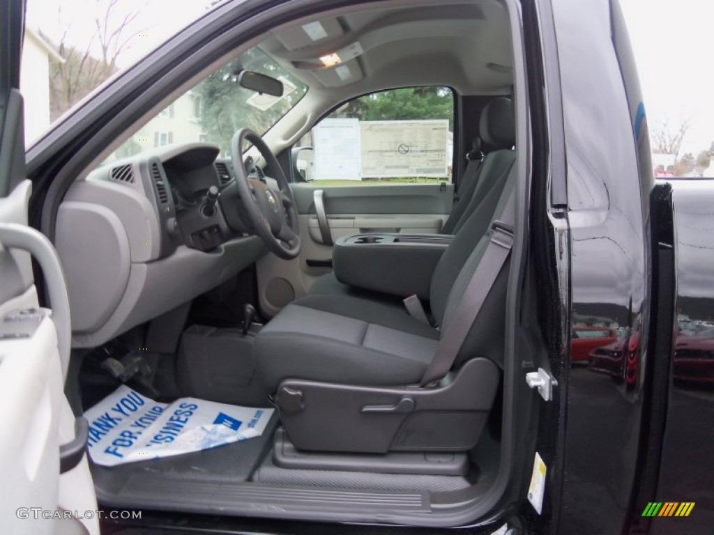 2013 Silverado 1500 Work Truck Regular Cab 4x4 - Black / Dark Titanium photo #14