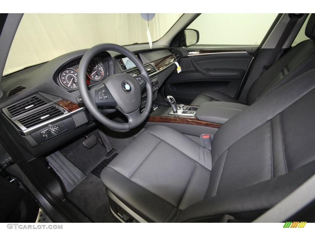 Black bmw x5 interior