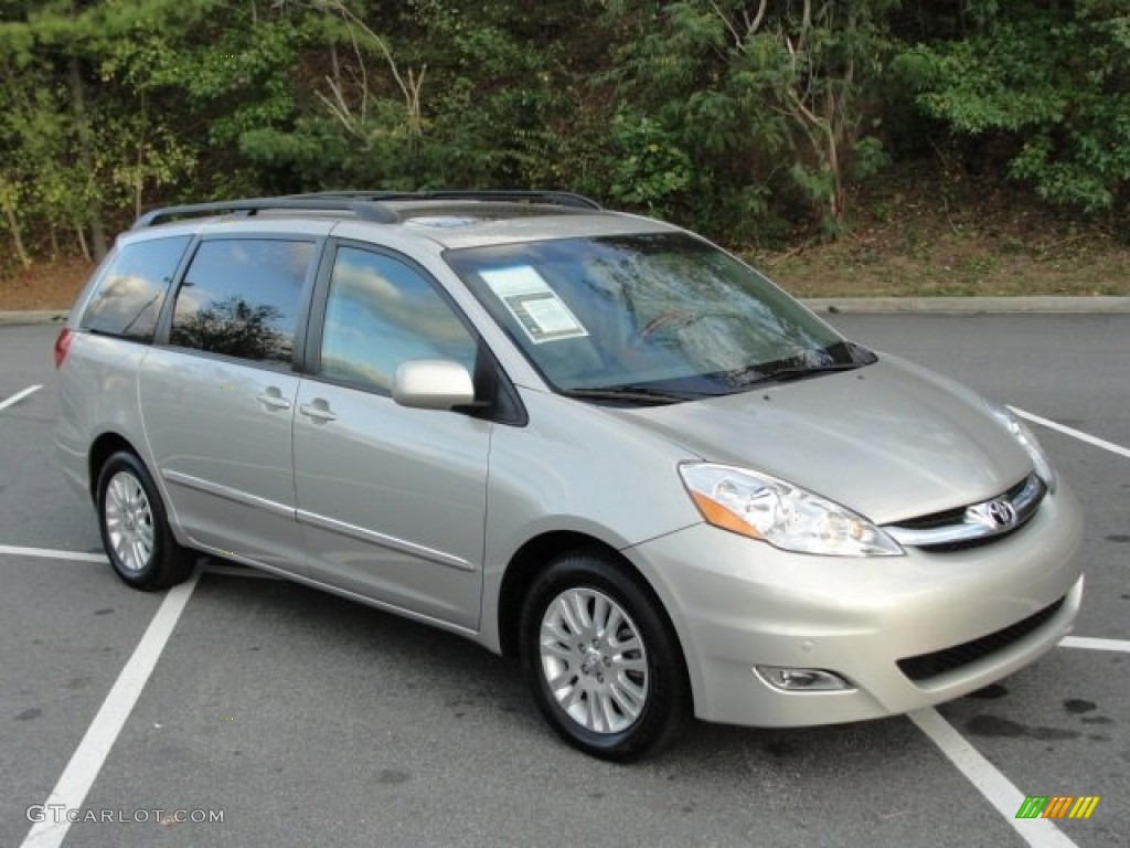 silver shadow pearl 2008 toyota sienna limited exterior. Black Bedroom Furniture Sets. Home Design Ideas