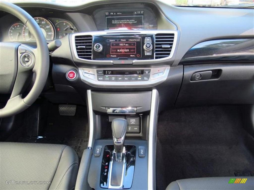2013 Honda Accord EX L V6 Coupe Black Dashboard Photo #72994183