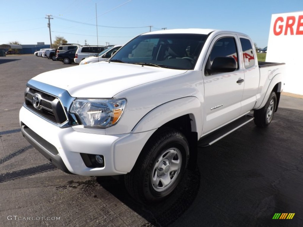 super white 2013 toyota tacoma v6 sr5 prerunner double cab exterior photo 73000552. Black Bedroom Furniture Sets. Home Design Ideas
