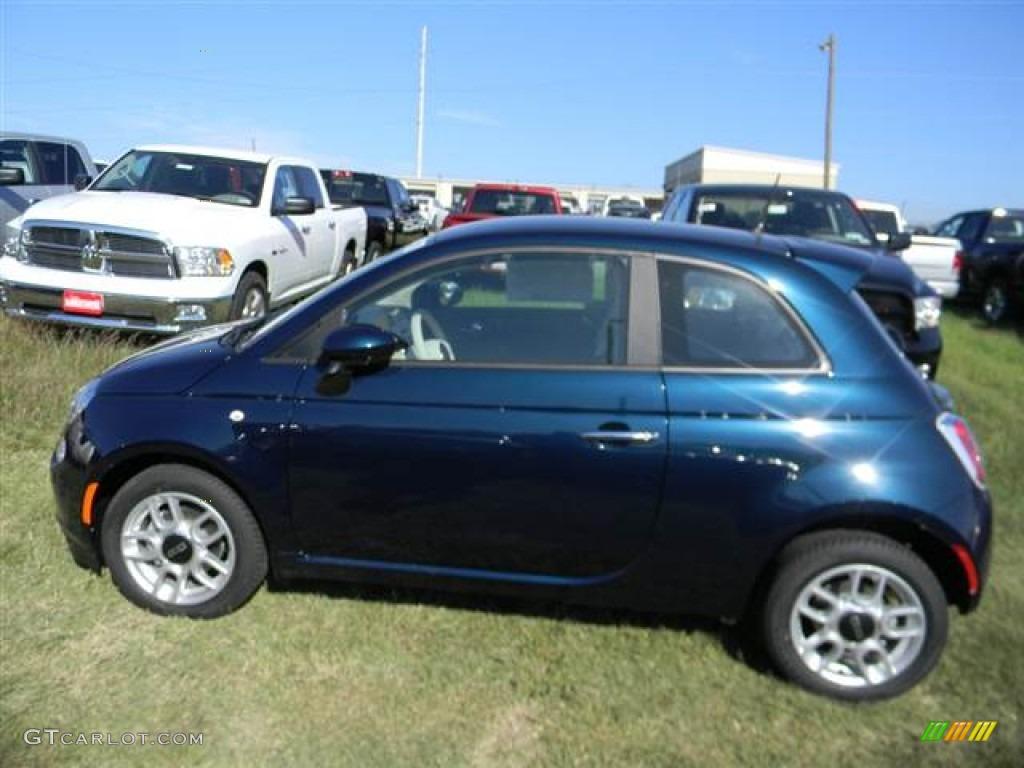 Verde Azzurro Blue Green 2013 Fiat 500 Pop Exterior