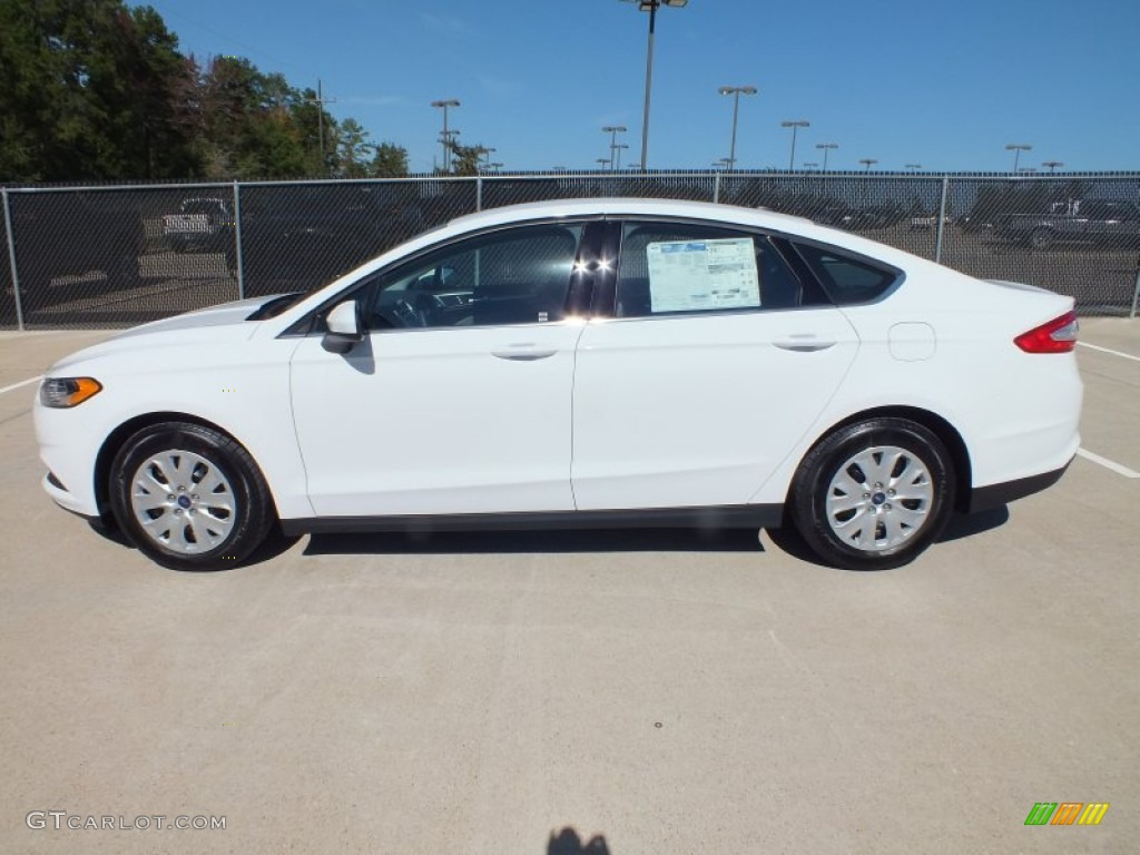 Oxford White 2013 Ford Fusion S Exterior Photo 73020538