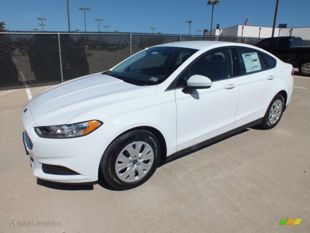Oxford White 2013 Ford Fusion S Exterior Photo 73020559