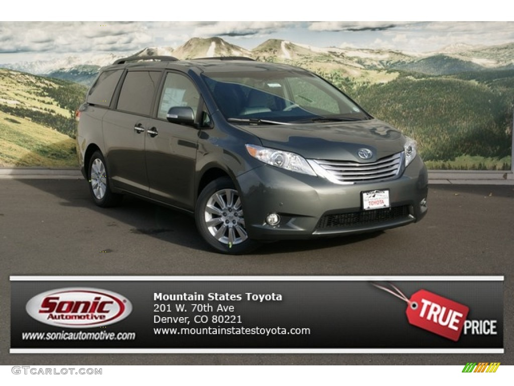 2013 cypress green pearl toyota sienna limited awd. Black Bedroom Furniture Sets. Home Design Ideas