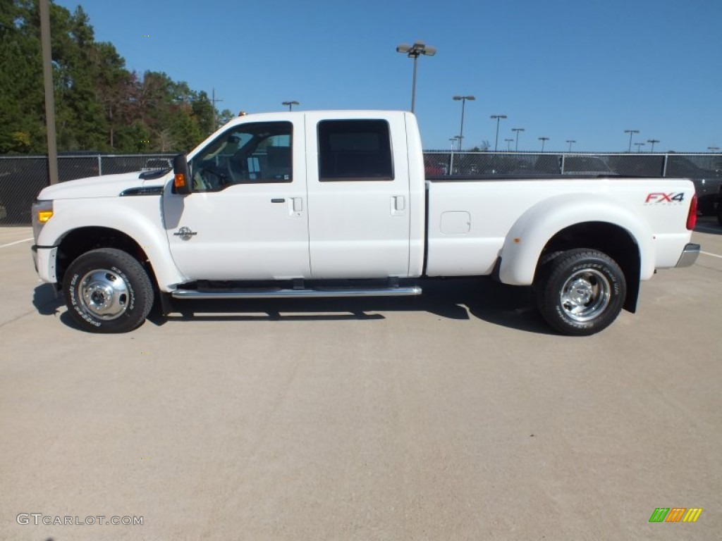 oxford white 2012 ford f450 super duty lariat crew cab 4x4 dually exterior photo 73026907. Black Bedroom Furniture Sets. Home Design Ideas