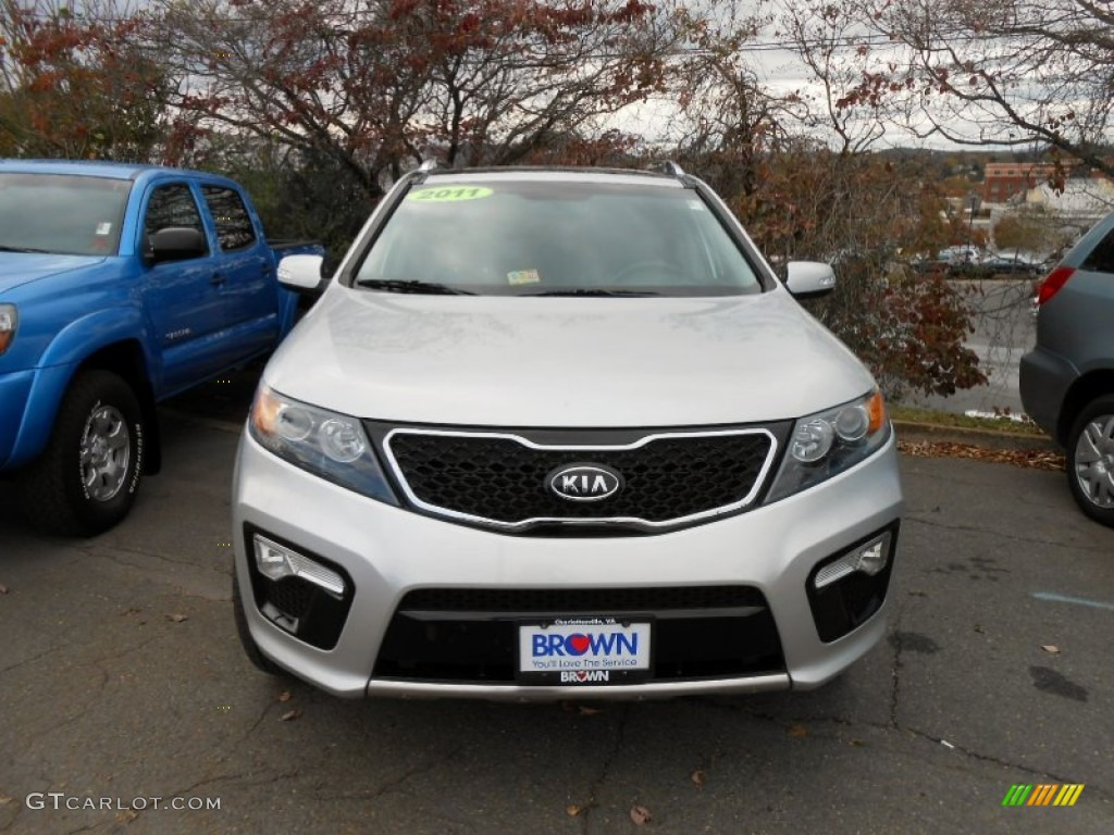 2011 Sorento SX V6 AWD - Bright Silver / Black photo #2