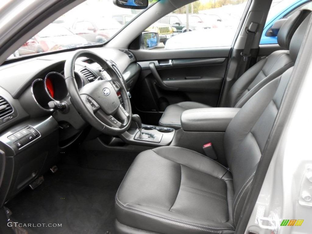 2011 Sorento SX V6 AWD - Bright Silver / Black photo #11