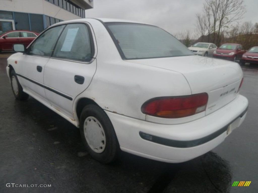 1993 glacier white subaru impreza l sedan 72991709 photo 4 car color galleries. Black Bedroom Furniture Sets. Home Design Ideas