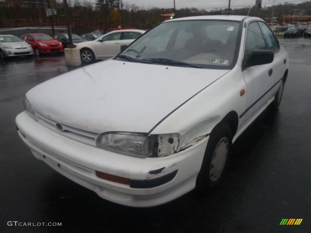 1993 glacier white subaru impreza l sedan 72991709 photo 5 car color galleries. Black Bedroom Furniture Sets. Home Design Ideas