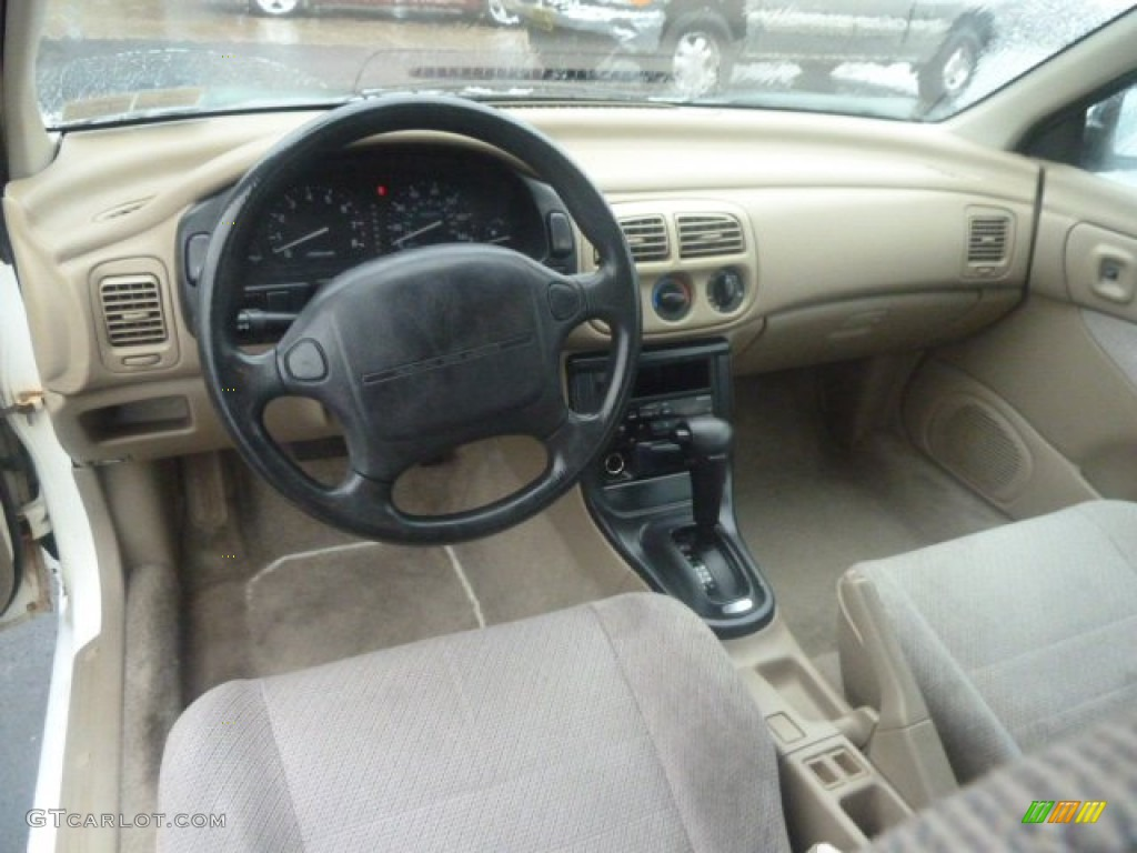 Beige Interior 1993 Subaru Impreza L Sedan Photo 73047472