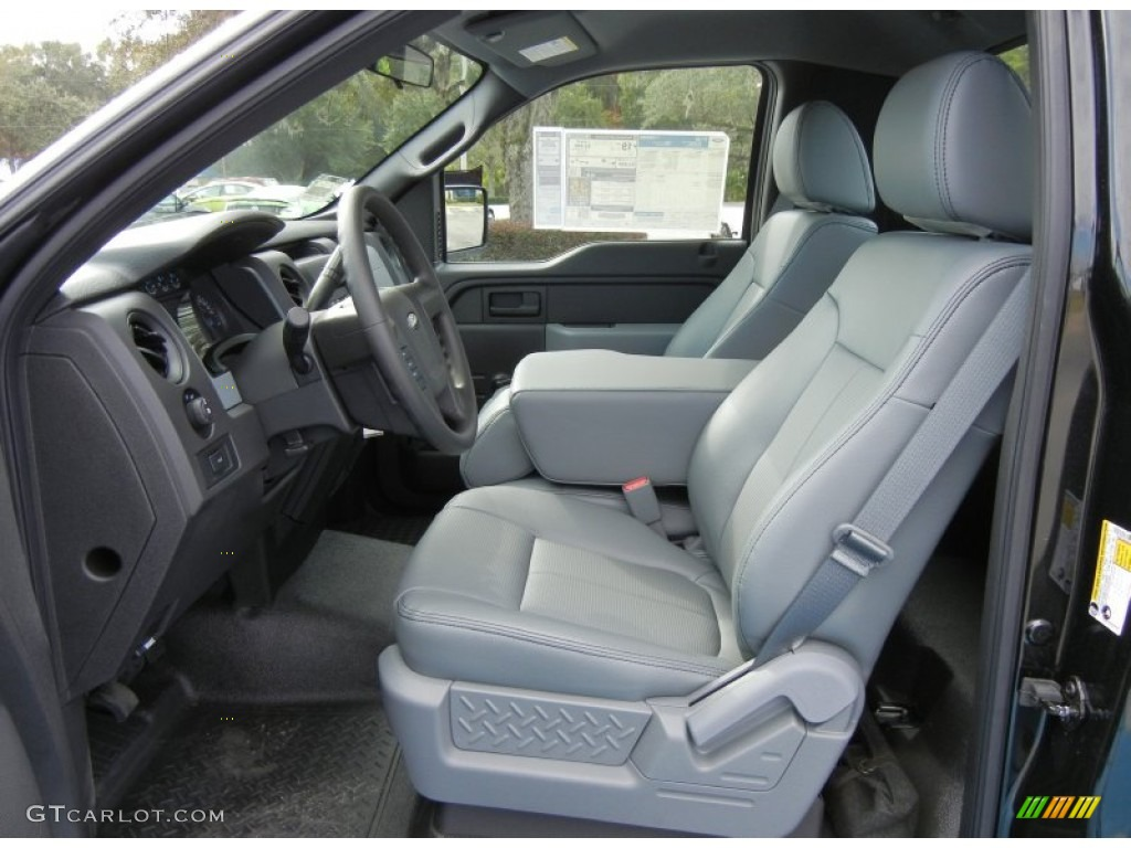 Steel Gray Interior 2013 Ford F150 Xl Regular Cab Photo