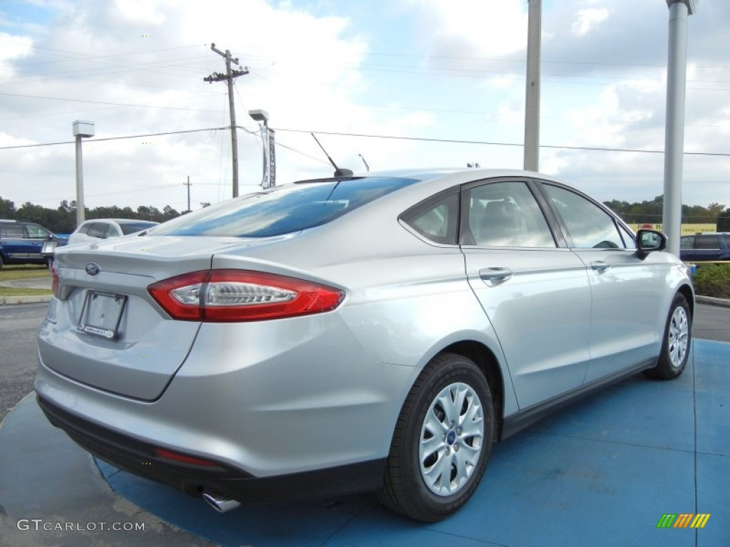Ingot Silver Metallic 2013 Ford Fusion S Exterior Photo