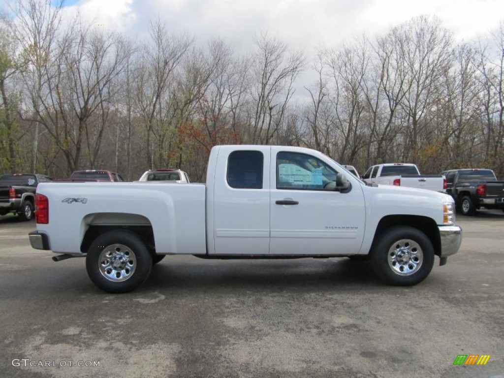 2012 Silverado 1500 LS Extended Cab 4x4 - Summit White / Dark Titanium photo #8