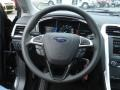 Charcoal Black Steering Wheel Photo for 2013 Ford Fusion #73081002