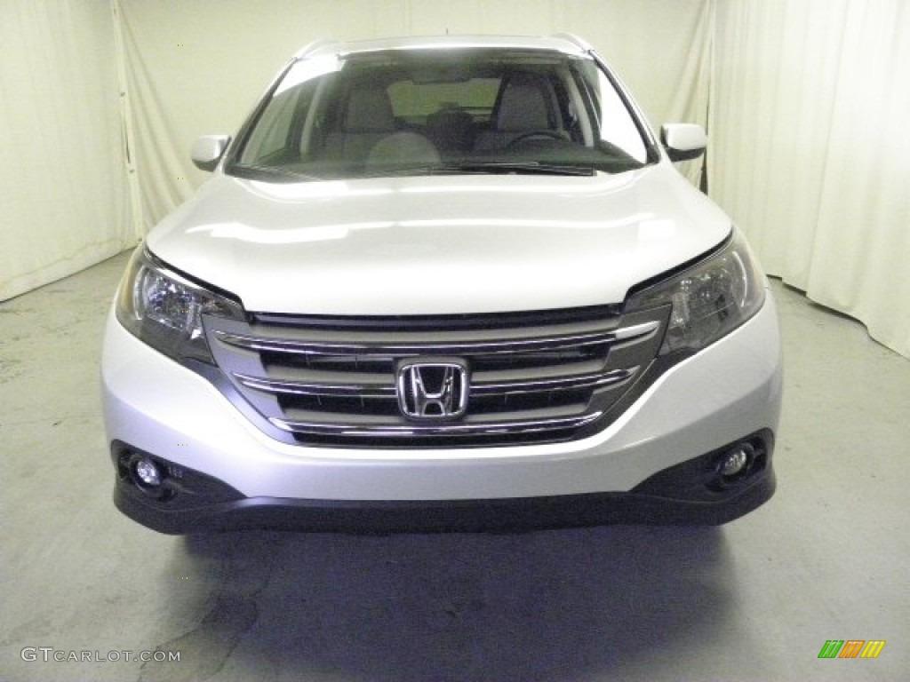 2013 CR-V EX-L AWD - Alabaster Silver Metallic / Gray photo #2