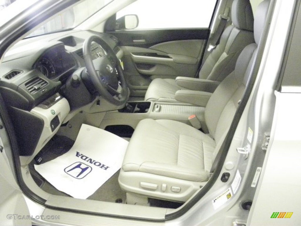 2013 CR-V EX-L AWD - Alabaster Silver Metallic / Gray photo #15