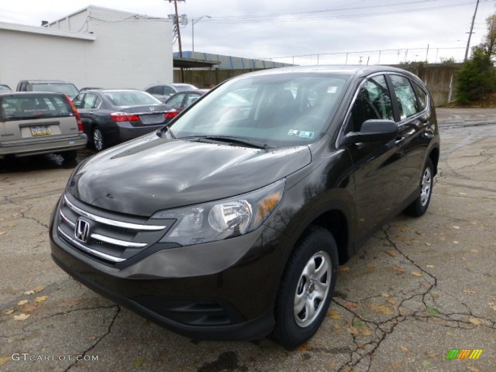 2013 CR-V LX AWD - Kona Coffee Metallic / Black photo #8