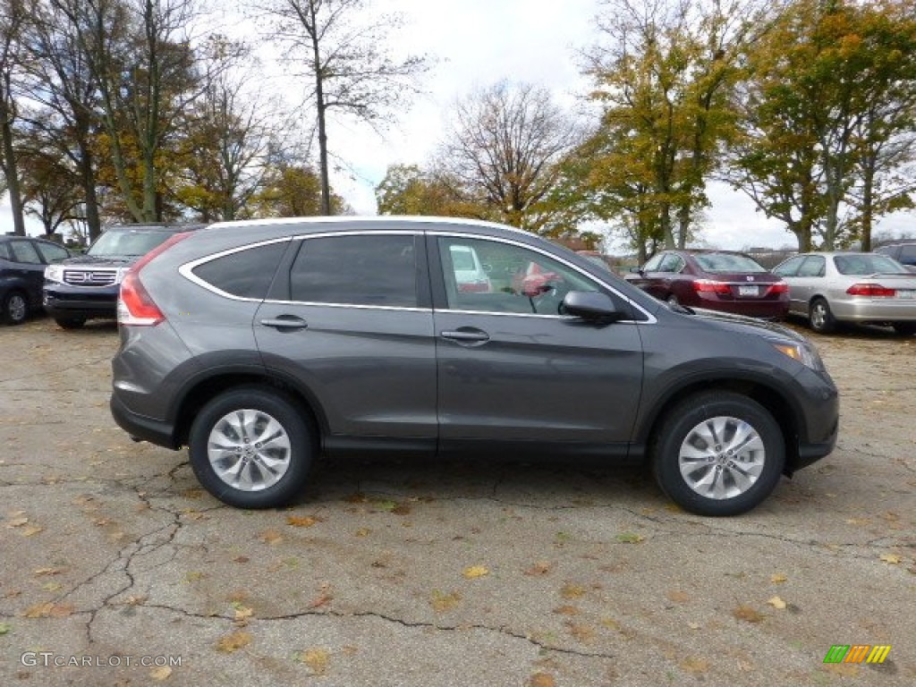 Polished Metal Metallic 2013 Honda Cr V Ex L Awd Exterior Photo 73088374