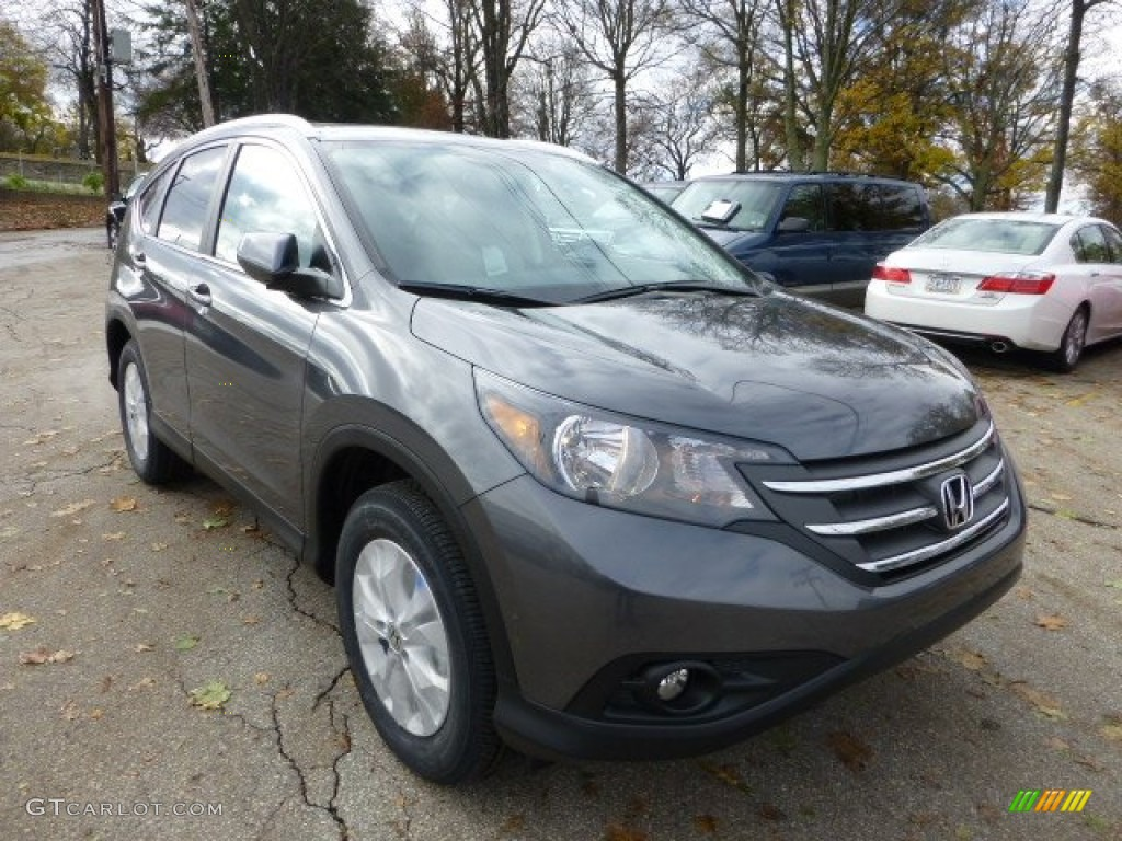 Polished Metal Metallic 2013 Honda Cr V Ex L Awd Exterior Photo 73088397