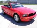 2007 Torch Red Ford Mustang V6 Deluxe Convertible  photo #12