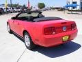 2007 Torch Red Ford Mustang V6 Deluxe Convertible  photo #16