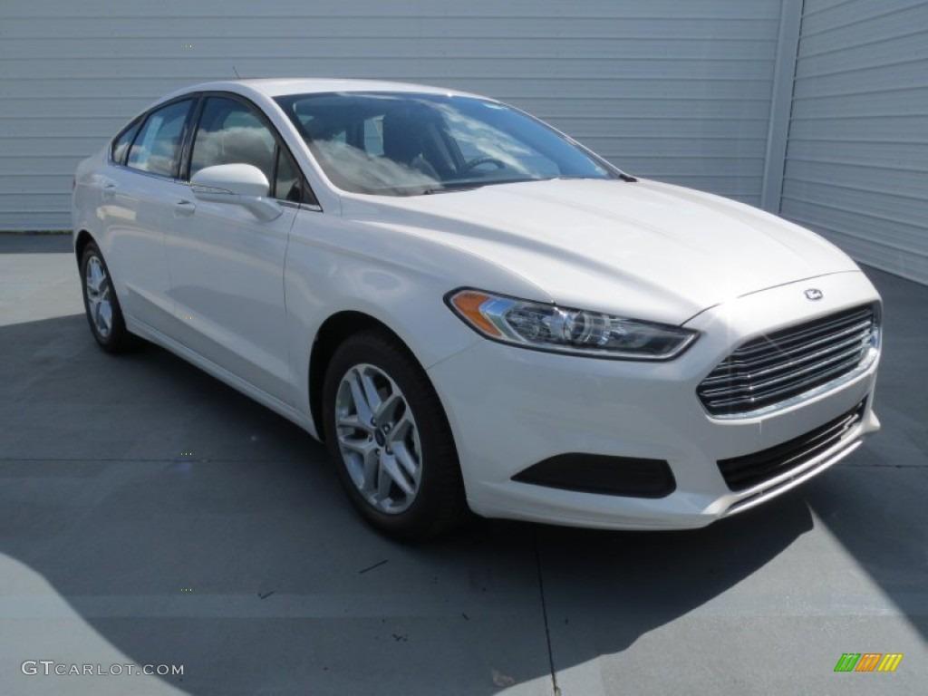 2013 White Platinum Metallic Tri Coat Ford Fusion Se 1 6