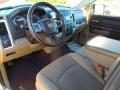 Light Pebble Beige/Bark Brown 2010 Dodge Ram 1500 Interiors