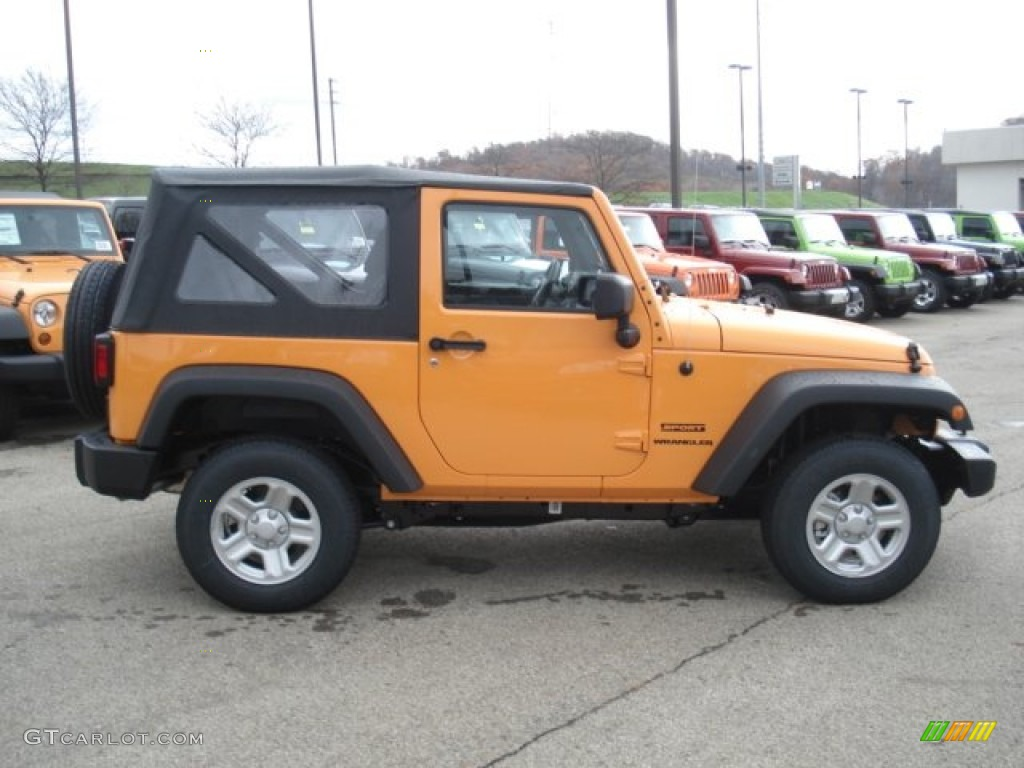 dozer yellow 2013 jeep wrangler sport 4x4 exterior photo 73096965. Cars Review. Best American Auto & Cars Review