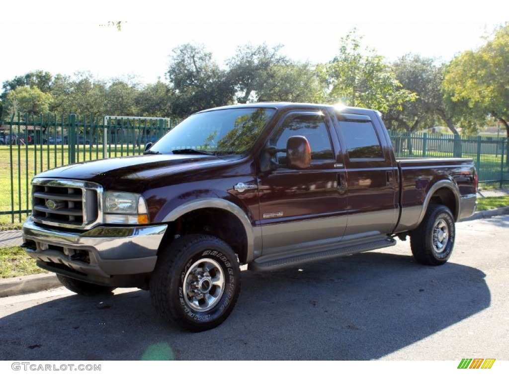 2004 chestnut brown metallic ford f250 super duty king ranch crew cab 4x4 73113653 photo 8. Black Bedroom Furniture Sets. Home Design Ideas