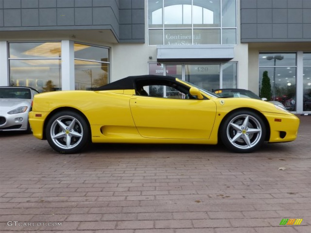 Giallo Modena Yellow 2002 Ferrari 360 Spider Exterior