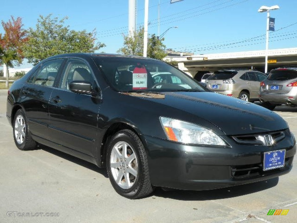 2004 deep green pearl honda accord ex v6 sedan 73113575. Black Bedroom Furniture Sets. Home Design Ideas