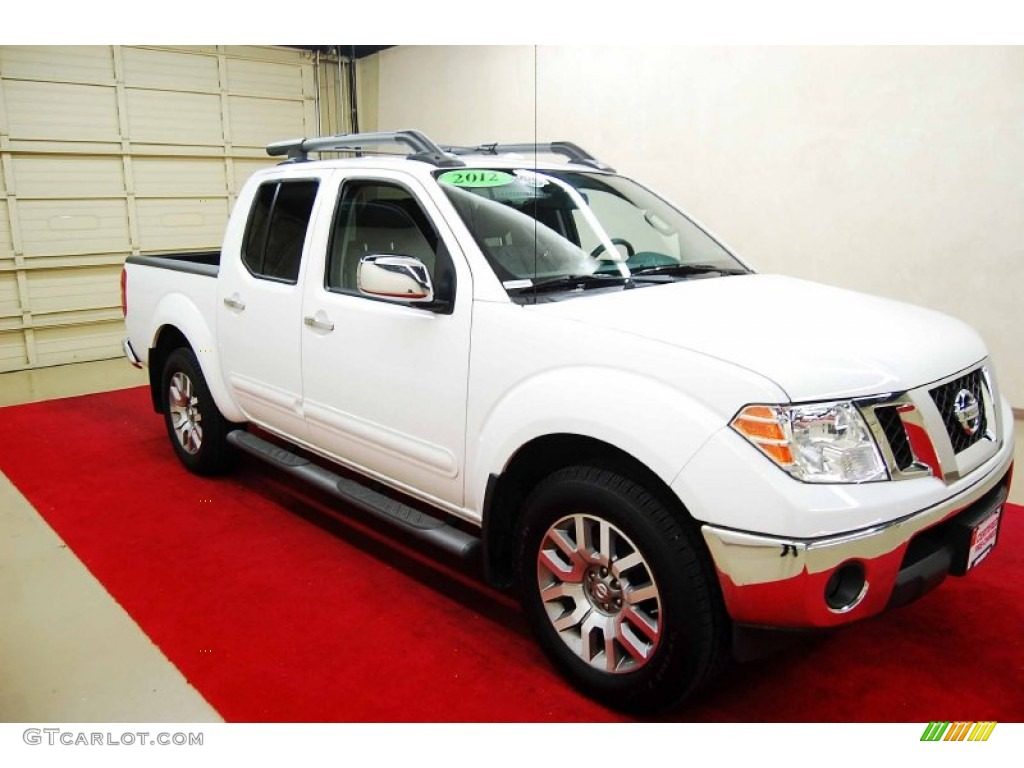 2012 Avalanche White Nissan Frontier Sl Crew Cab 4x4 73142550 Car Color Galleries