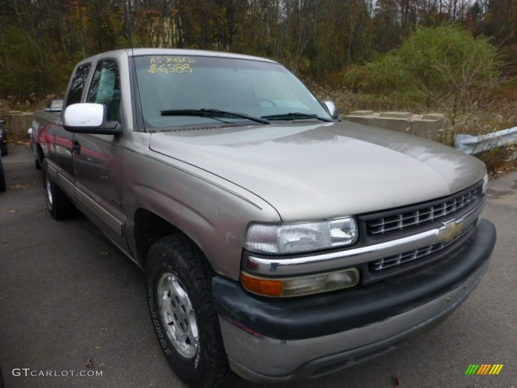 2002 Silverado 1500 LS Extended Cab 4x4 - Light Pewter Metallic / Graphite Gray photo #1