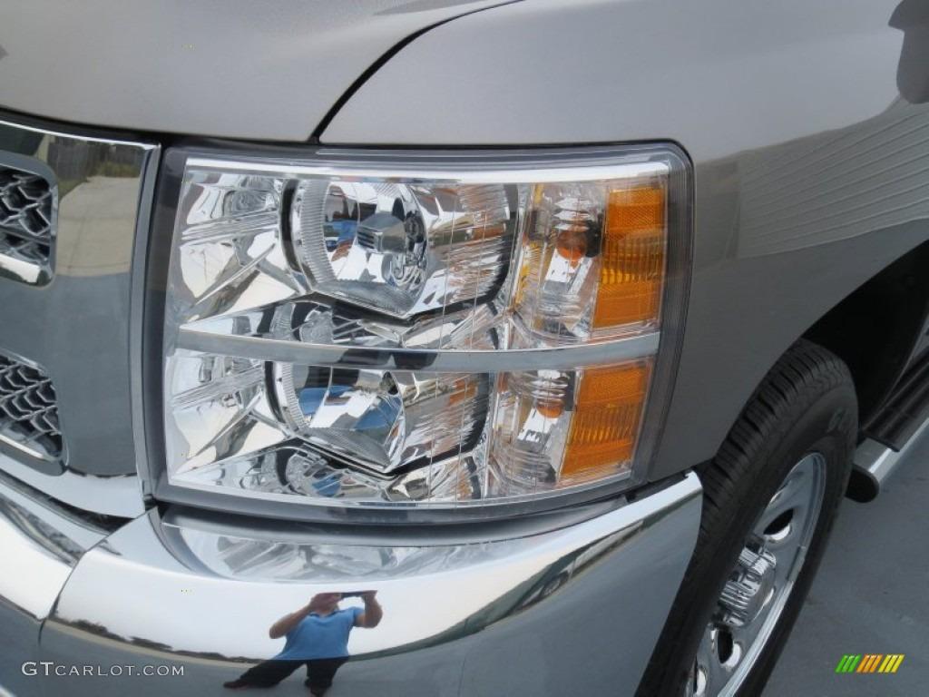 2012 Silverado 1500 LS Crew Cab - Mocha Steel Metallic / Dark Titanium photo #8