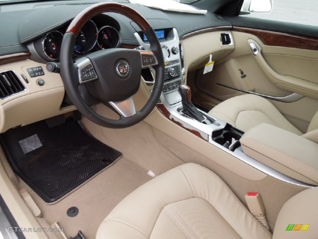 Cashmere Ebony Interior 2013 Cadillac Cts Coupe Photo