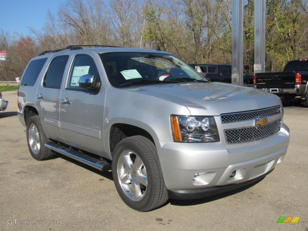 silver ice metallic 2013 chevrolet tahoe ls 4x4 exterior photo 73190088. Black Bedroom Furniture Sets. Home Design Ideas